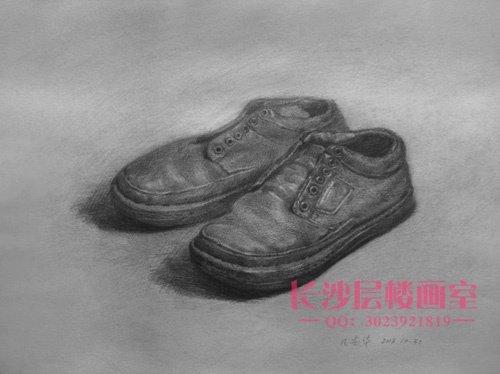 皮鞋素描(上图)