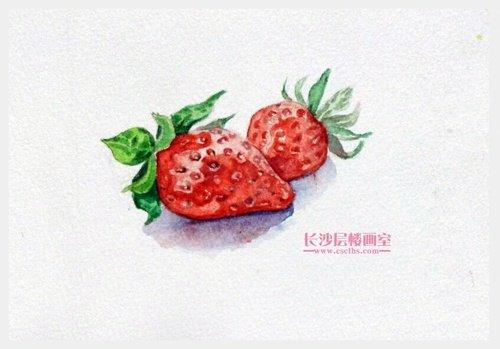 水彩草莓(上图)