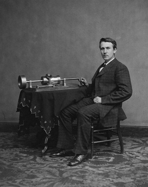 发明大王爱迪生发明世界第一台留声机(LSSDJT.COM)