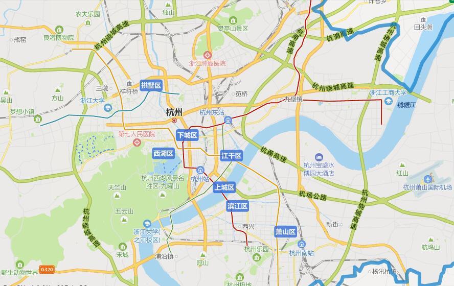 杭州市西湖区规划图_杭州市政区地图 详解杭州都市区正在崛起的板块矩阵