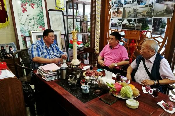 何道深一行参观番禺六福农业文化博览园