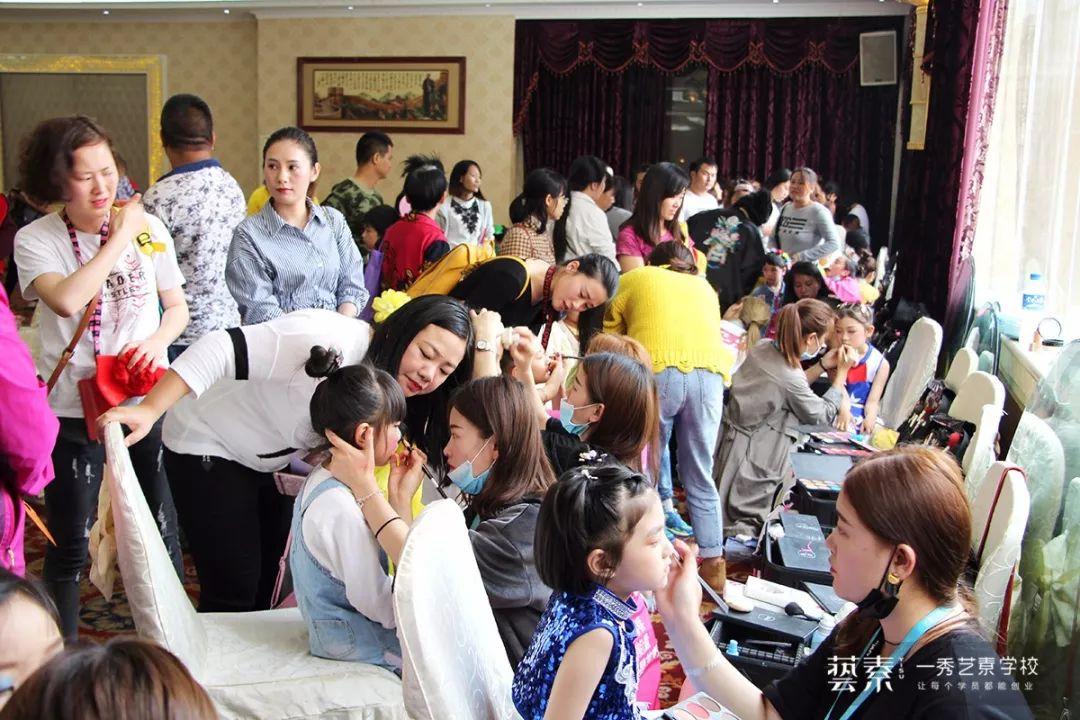 一秀艺素学校,过儿童节?no,是儿童化妆师节!