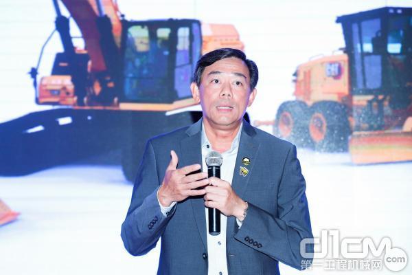 卡特彼勒全球基础建设行业中国区项目总监林锦汉致辞