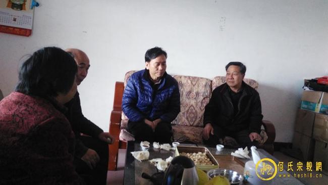 梅州市何氏总会长何建清率领班子成员到兴宁石马走访慰问新娇老人